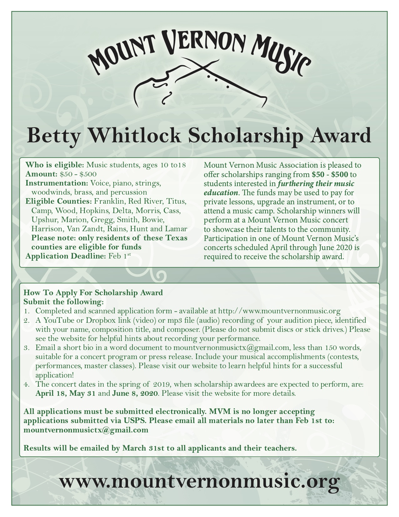 2019-Scholarship poster